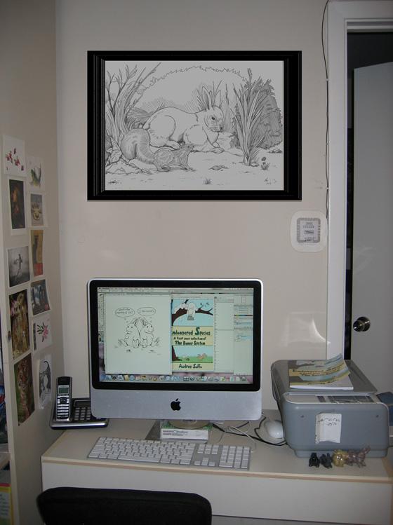 My desk looks a little stark after I've tidied it.